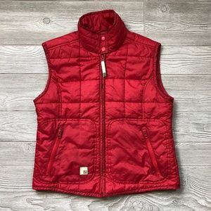 Zara TRF Red Winter Puffy Vest Women's M C39